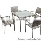 Hot sale Chinese outdoor rattan garden furniture patio wicker furniture rattan restaurant tables
