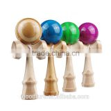 High Quality Safe Bamboo Kendama With PU Painting Adult Toy Kids Toy