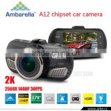 Car DVR Ambarella A12 Chip 2650*1440P 30fps GPS Logger ADAS Video Recorder Dash Cam With Night Vision HDR DVRs