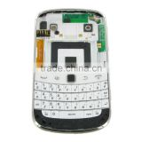 Full White Housing For BlackBerry Bold 9900 Cover + Middle Housing + Keypad + Keypad Flex + Battery Cover