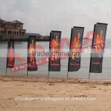 Epoxy fiberglass flag pole for wholesale factory make outdoor beach block flag