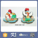 2017 year symbol rooster soft magnet for home decoration