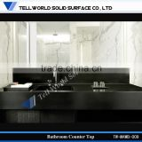 Black Marble Bathroom Countertop, Artificial Stone Vanity, Stone Bathroom Counter Top