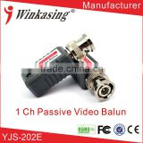 the best price CCTV passive utp bnc connector video balun Twisted pair transmitter with a good quality YJS-202E