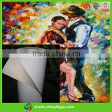 FLY China supplier silk fabric for indoor use, decoration fabric, digital printing canvas, made in china