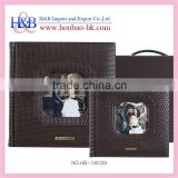 H&B hot sales 12*12 personalized leather photo album