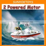 1:12 Speed Rc Boat; 2 Powered Motor Dual Propellers