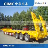 3 Axles 60 tons CIMC manufacture excavtor transport semi truck trailer
