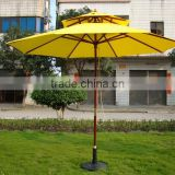 Frances Polyester 2.7M wood sun garden parasol for swimming pools parasols base                                                                         Quality Choice