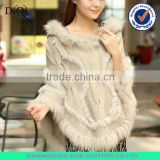 wholesale women cape, rabbit fur poncho, women winter clothes