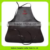 004 Eco-friendly Waitress Chef Man Women Adults Kitchen Cooking Leather apron Salon PU Leather Waterproof Apron
