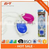 Fashion cosmetic play set plastic jewelry beauty toy with light