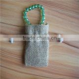 Nature Jute Burlap Drawstring Gift Bag,jute jewelry pouch jute bag wholesale from China,Custom bag acceptable