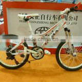 20inch white color steel frame MTB colorful tire mountain bike bicycle for adult or children