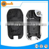 ABS black 2 buttons flip replacable car key shell with uncut HU100 blade for Opel Astra g Vectra