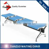 Chrome Metal Airport Waiting Beam Seating Bench Seating