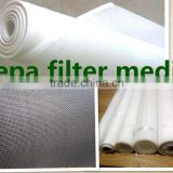 spunbond polyester nonwoven air filter media/material roll