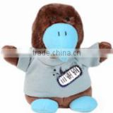 giveaway logo custom imprinted promotional plush stuffed soft hawk bean bag mascot clothes t-shirt bib tie ribbon animal toys