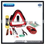48pcs emergency tool set essential home used tools including flashlight and bosster cables