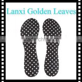 Golden leaves insole Fashion sponge foam 3/4 insole with silicone gel shoe pad