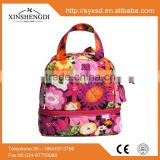Factory wholesale candy big side by designer 100% cotton quilted women's insulated bag
