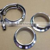"5 inch V-Band clamp QUICK RELEASE CLAMP and COLLAR SET 127mm(5"") STAINLESS STEEL Vband Kit"