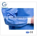 Hospital use disposable surgical gown with SMS material in high quality
