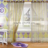 Latest curtain designs 2015 Stripe Sheer Curtain Valance Designs For Living Room