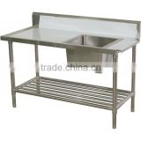 hot sale OEM and ODM 304 stainless steel dishwater sink work bench