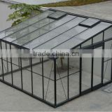New style deluxe agricultural backyard homely glass greenhouse with aluminium frame HX97226WG