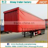 Factory direct 3 axles box van type semi trailers with curtain durable curtain side semi trailer for sale