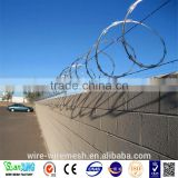 wholesale cheap price hot dipped galvanized cbt 60 razor barbed wire/BTO-22 razor wire barriers