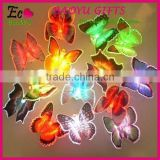 Promotion Gift Children Toy Refrigerator Fridge Butterfly Magnet,DIY Glow colorful 3d butterfly stickers