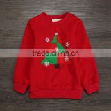 Winter christmas tree embroidery fleeces jackets for boys children cloth for Christmas day