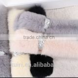 Fashion Women Scarves Winter 2016 High Quality Natural Fox Fur Scarf Collar Cute Girls Real Fur Wraps Scarves