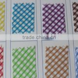 Gingham Check color TC bias tape cord