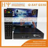 2014 Newest QSAT Q23g in stocks mpeg4 full hd one year free gprs decoder for Africa Q-SAT Q23G(factory price)