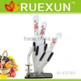 Hot Sale Kitchen Ceramic Knife Set with Acrylic block.