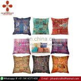 Embroidered Patchwork Pillow Cover Ethnic Cushion Cover