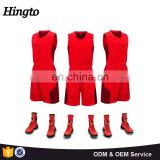 Custom boy sublimation basketball uniform color red 2016