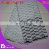 fashion embroidery lace/african lace fabric/african tulle lace/african french lace /charinter lace FL1042 white color
