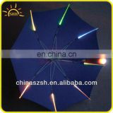 bright LED light up umbrella with lights on the handle and frame