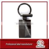 Wholesale Promotion Gifts & Crafts Custom Logo Accepted Simple & Classical Cheap Black Metal Male Keychain