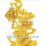 dragon year gold figurine gift for collection