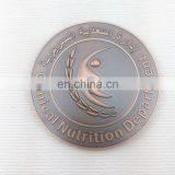 Copper antique metal souvenir coin with custom image and logo