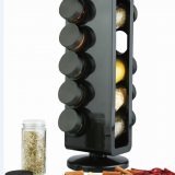 ABS 10 jars spice rack set