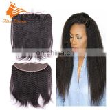 Updated Soft Looking Kinky Straight No Shedding Virgin Hair Lace Frontal 13x4 Hair Pieces