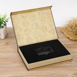 Black and gold eco friendly gift packaging box large size
