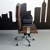 luxury italian leather reclining office wooden executive office chair