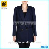 offcie wear double breasted black trench coat for ladies design
